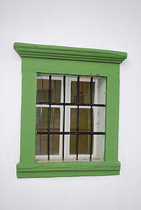 green, window, house, architecture, building