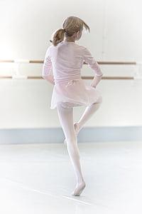 dance, girl, dancer, high key, ballet