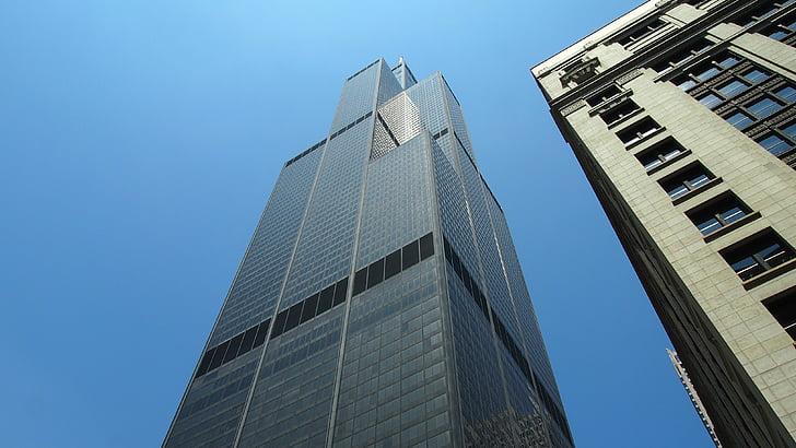 시카고, 스카이 스크 래퍼, 미국, 큰 도시, 도시, 메트로 폴리스, 고층 빌딩