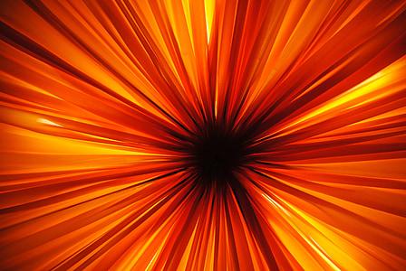 luz, iluminación, Lámpara, parece, brillar a través de, caliente, naranja