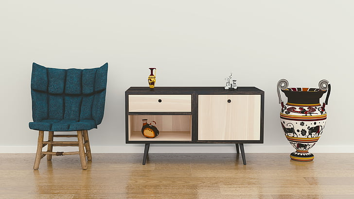 istabu, interjers, showpiece, dizains, krēsls, miera, koka