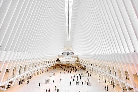 arhitektuur, valge, hoone, infrastruktuuri, inimesed, rahvas, shopping, Mall