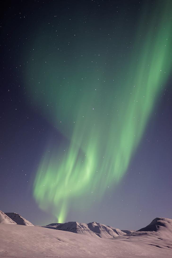 Aurora borealis, lạnh, cảnh quan, đèn phía bắc, hoạt động ngoài trời, bầu trời, tuyết