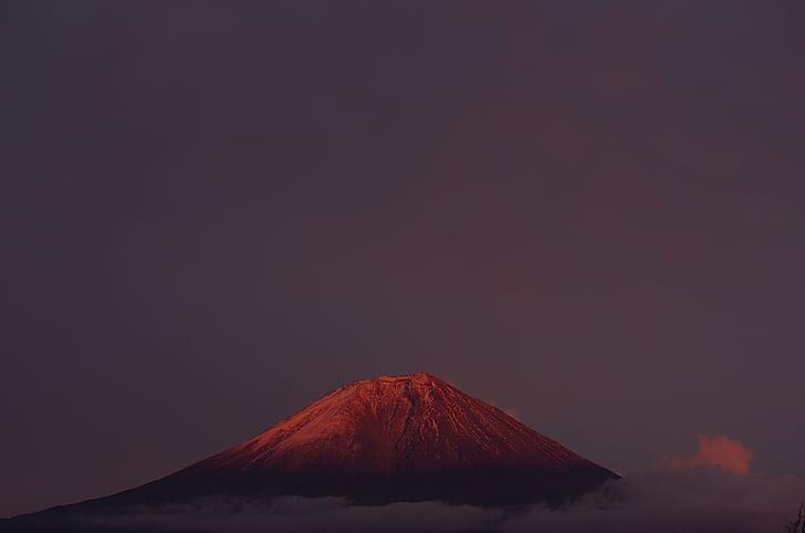 Mt fuji, fuji vermell, muntanya, natural, Japó, Àsia, muntanyes del Japó