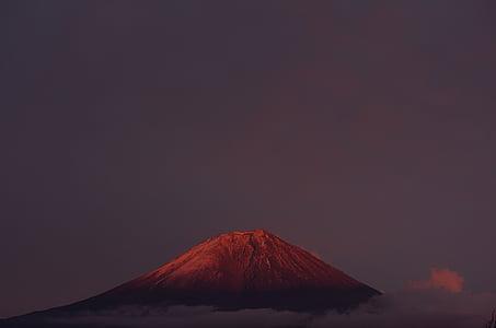 Monte fuji, fuji vermelho, montanha, natural, Japão, Ásia, montanhas do Japão