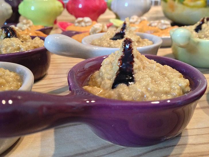 dip, eat, culinary, porridge, ceramic, chunks, starter