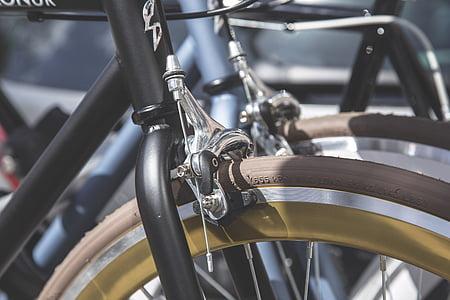 bike, brake, chrome, drive, equipment, part, power