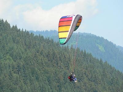 parapent, muntanyes, esport de muntanya, activitats esportives, paisatge, Alps, natura