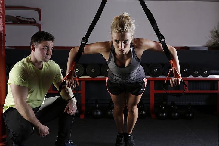 sport, Fitness, trening, sporty, bevegelse, gymnastikk, grasiøs