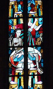 Biserica fereastra, vitralii, fereastra, Biserica, credinţa, fereastră de sticlă, culoare