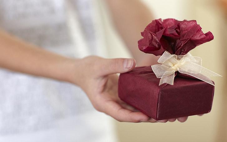 dāvana, dāvanas, sievietes, saimniecība, Box - konteiners, svinības, dodot