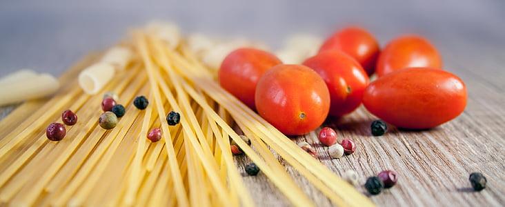 pasta, nuudlid, kokk, tomat, süüa, pipar, Itaalia