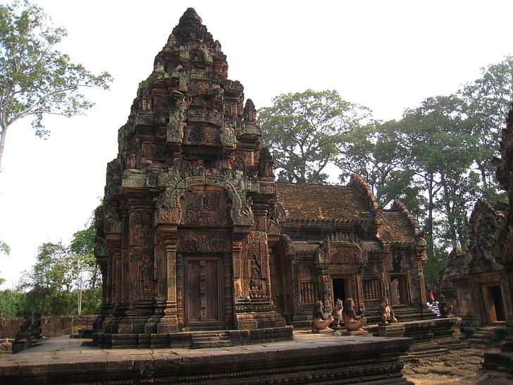 Cambodja, Wu på angkor wat, udskåret sten
