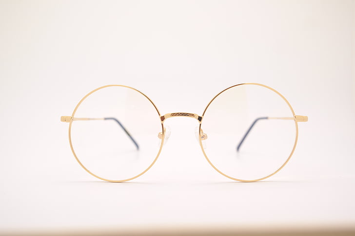 очила, метил-Ангел терапия, стъклени чаши, Златни, разбити, очила, зрението