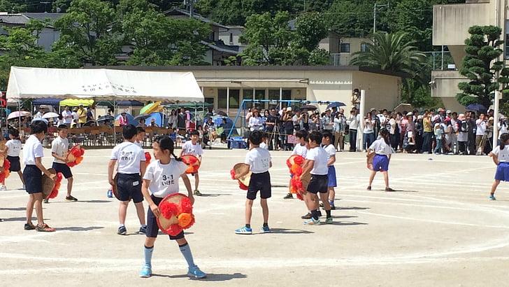 forår, Sports day festival, lejlighed, Japan, traditionel dans, folk, Street