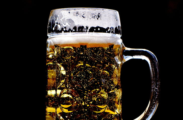 birra, giardino della birra, sete, tazza di vetro, bere, vetro di birra, boccale di birra
