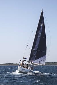 båt, segel, segling, havet, segelbåt, vatten, Ocean