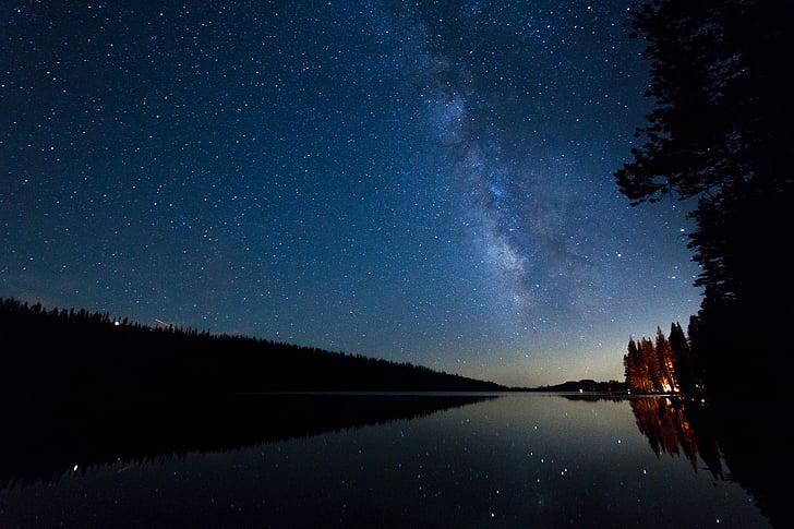 bilde, kroppen, vann, natt, tid, himmelen, Star