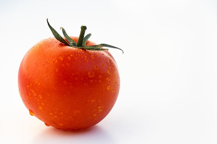 paradajka, ovocná, zelenina, šťavnaté, červená, sám, makro