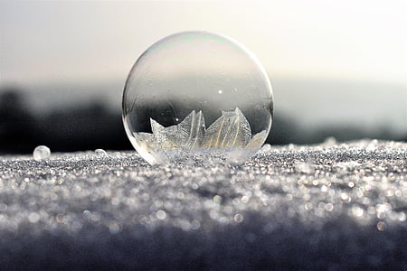 soap bubbles, frozen, frost, frozen bubble, eiskristalle, winter, cold