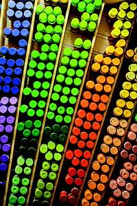 grafiti, semprot dapat, kotak, warna-warni, warna, merah, hijau