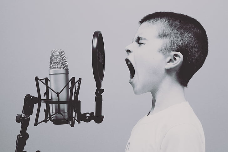 people, boy, kid, child, singing, screaming, music