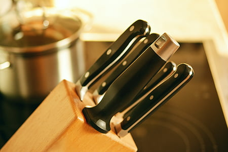 bloc de ganivet, ganivet, cuina, cuinar, pressupost, manejar, estri de cuina