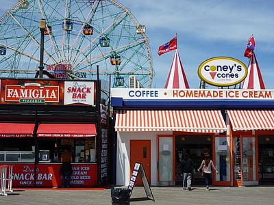 ciutat, Parc d'atraccions, urbà, EUA