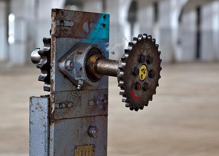 Gear, mécanique, industrie, engrenages, transmission, fer, en voiture