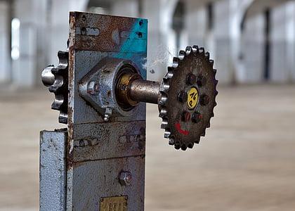 engranatge, mecànica, indústria, engranatges, transmissió, ferro, unitat