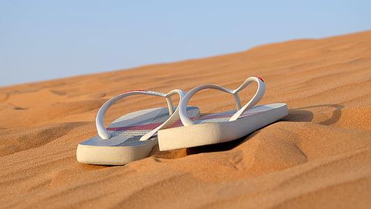 sandàlies, flip-flops, calçat, platja, sabates, oci, sorra