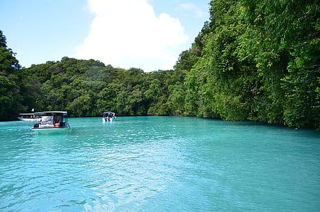 Csónakázás, turisztikai, Palau beach, Bay, tó, tó, tenger