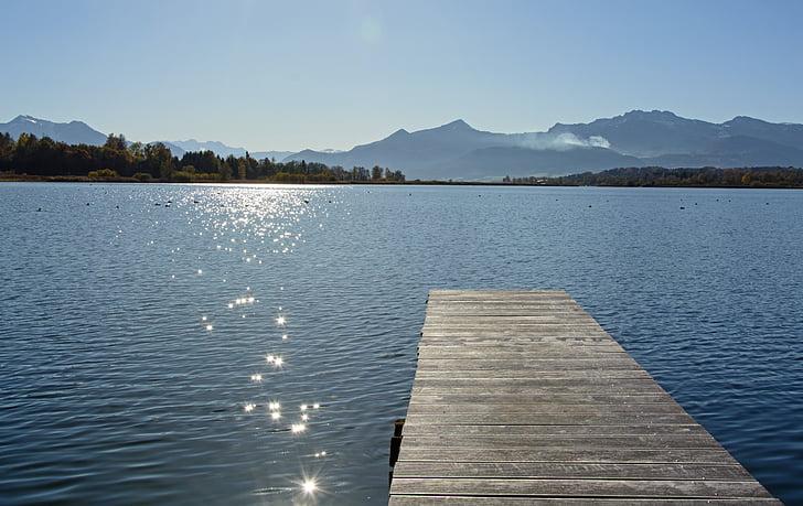 Chiemsee, torna la llum, paisatge, natura, Llac, l'aigua, espurna