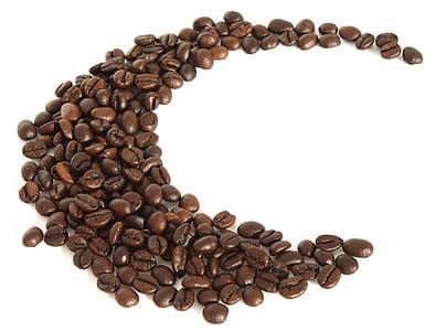 φόντο, καφέ, κόκκοι καφέ, ψημένα, άλεσμα, καφεΐνη, καμπύλη