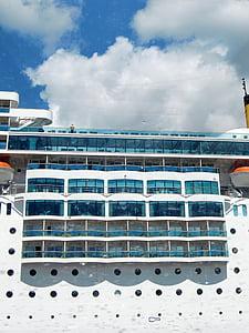 fartyg, kryssning, Frakt, Holiday, Cruiser, havet, däck