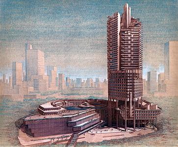 Singapura, pencakar langit, bangunan, arsitektur, Concourse, Menggambar, gedung perkantoran