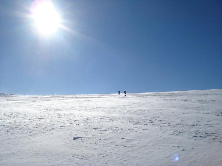 gira, glacera, Breithorn altiplà, Zermatt, l'hivern, paisatge, platja