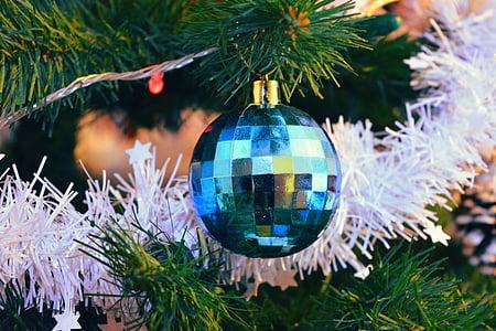 Natal, Brad, pohon Natal plastik, pohon Natal, merayakan, Globe, Ornamen