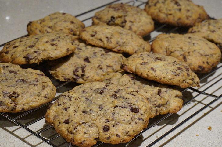 pliki cookie, do pieczenia, świeży, domowej roboty