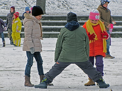 kids, game, winter, child