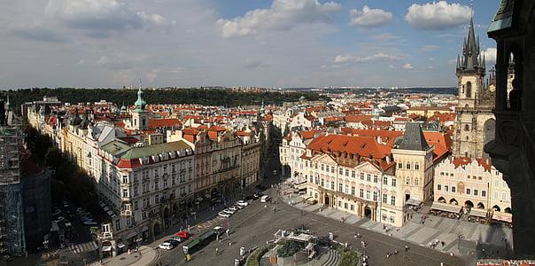 Praha, arkitektur, tsjekkisk, republikk, byen, historiske, berømte