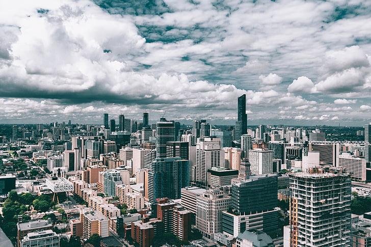 arsitektur, bangunan, Kota, pemandangan kota, Pusat kota, pencakar langit, cakrawala