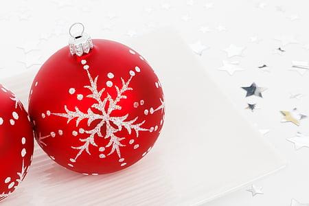 palla, Bagattella, Natale, decorazione, decorativi, festivo, vetro