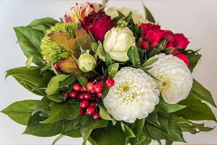 ramo de la, ramo de cumpleaños, flores, cumpleaños, regalo, Gracias, flora