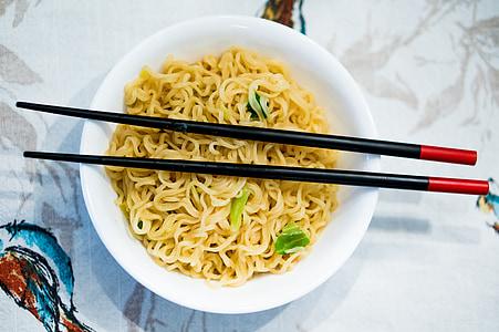 aliments, ramen, fideus, cuina, Japó, calenta, sopa