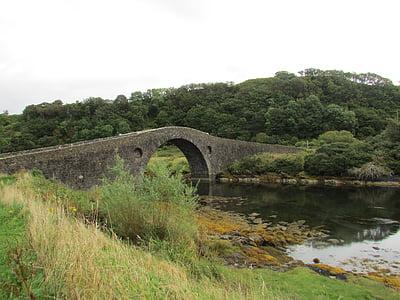 scotland, old bridge, bridge, atlantic bridge, west coast, stone bridge, island bridge