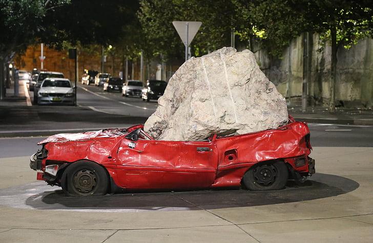 auto, purustatud, Art, kaasaegne, skulptuur