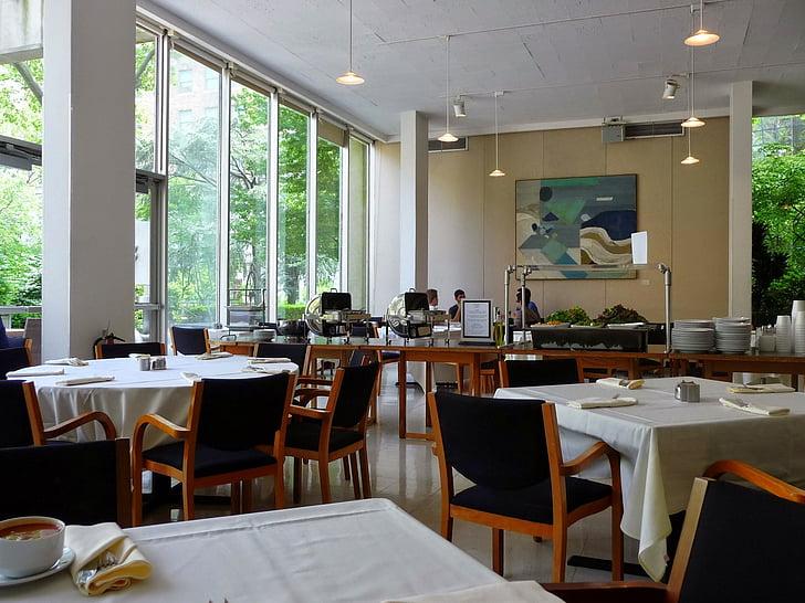 kantine, Restaurant, stemming, maaltijd, eten, gebouw, esthetische