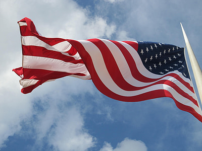 lòng yêu nước, Hoa Kỳ, yêu nước, vẫy tay chào, Old glory, Breeze, Windy