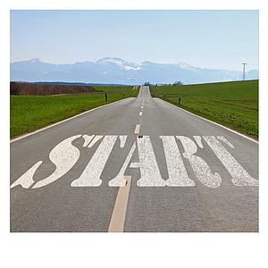 carretera, Inici, Inici, intenció, planta, parada, disseny